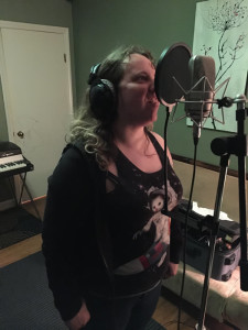 Ms. Cheryl putting down some vocals
